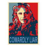 Presidente Obama - cobarde Postales