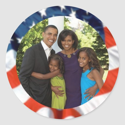 Presidente Obama Collectibles Etiqueta Redonda