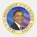 "Presidente Obama Collectibles Large 3"" pegatina"