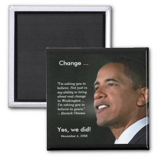 Presidente Obama Commemorative Magnet Imán Cuadrado