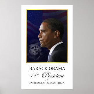 Presidente Obama con el poster de John F. Kennedy