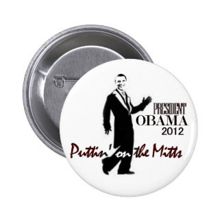 Presidente Obama consigue lujoso Pin Redondo 5 Cm