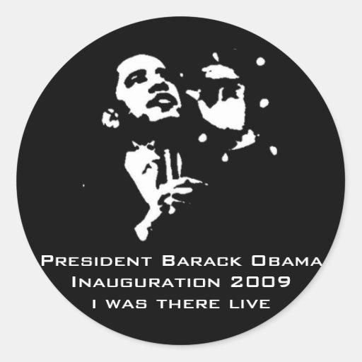 Presidente Obama Customized Accessories Pegatina Redonda