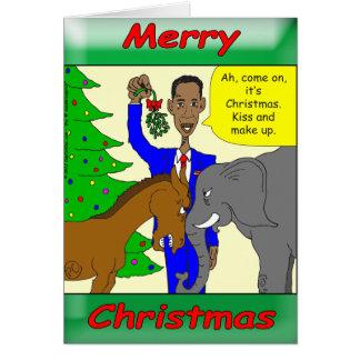 Presidente Obama de las Felices Navidad Tarjeta De Felicitación