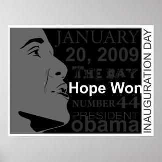 presidente obama - día de inauguración póster