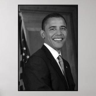 Presidente Obama -- En blanco y negro Póster