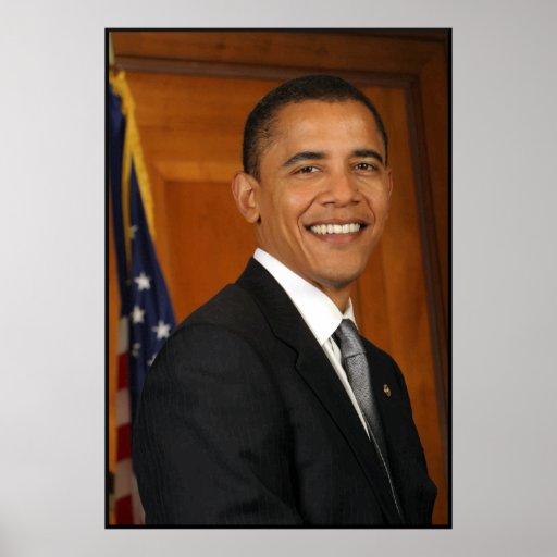 Presidente Obama -- En color Póster