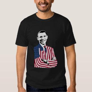 Presidente Obama en una chaqueta de la bandera