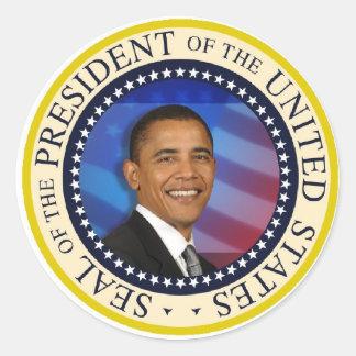 Presidente Obama Etiqueta Redonda