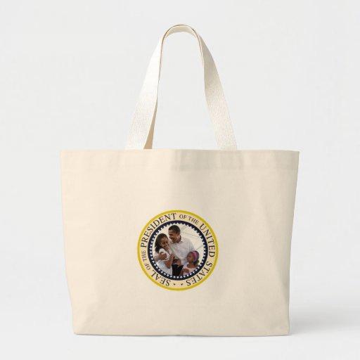 Presidente Obama Father y hijas Bolsa Tela Grande