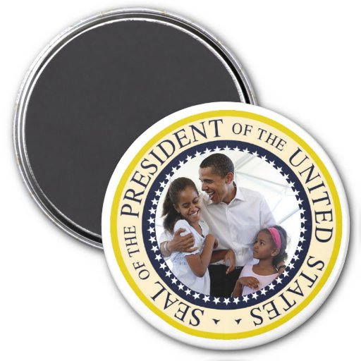 Presidente Obama Father y hijas Imán Redondo 7 Cm