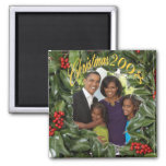Presidente Obama First Family Christmas 2008 Iman De Frigorífico