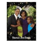 Presidente Obama First Family Keepsake Postales