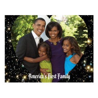 Presidente Obama First Family Keepsake Postal