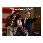 Presidente Obama First Family Keepsake Tarjeta Postal