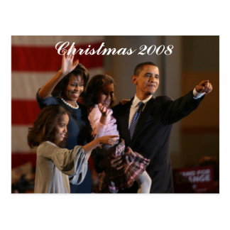Presidente Obama First Family Keepsake Tarjeta Postal
