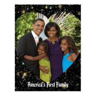 Presidente Obama First Family Keepsake Postales
