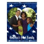 Presidente Obama First Family Keepsake Tarjetas Postales