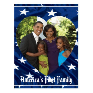 Presidente Obama First Family Keepsake Tarjetas Postales