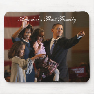 Presidente Obama First Family Keepsakes Mouse Pads