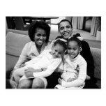 Presidente Obama First Family Tarjeta Postal