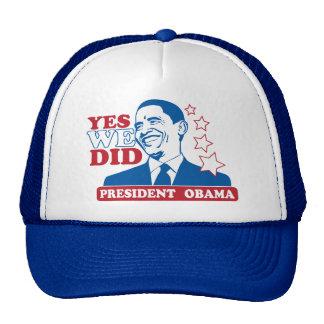 Presidente Obama Hat Gorras