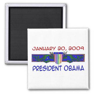 Presidente Obama Imán Cuadrado