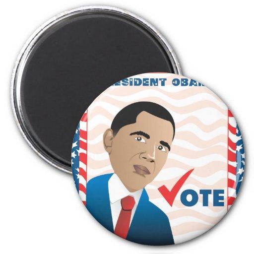 Presidente Obama Imán Redondo 5 Cm