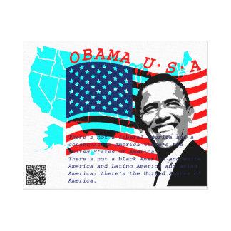 Presidente Obama Impresión En Lona