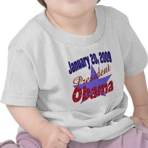 Presidente Obama Inauguration Camisetas