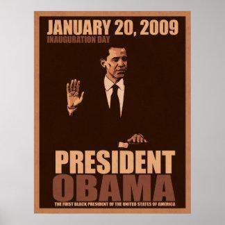 Presidente Obama Inauguration Canvas Poster