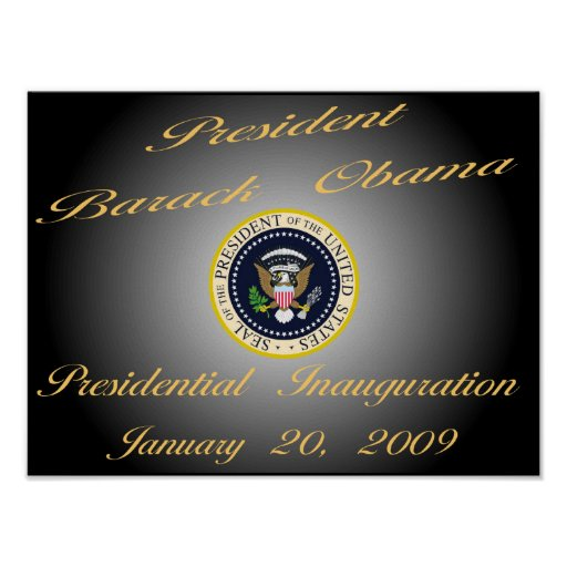Presidente Obama Inauguration Commemorative Poster