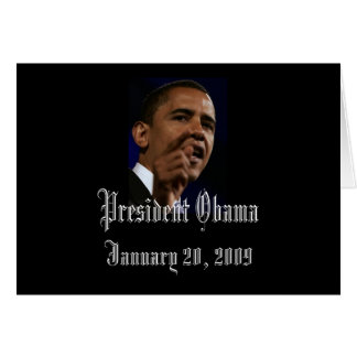 Presidente Obama Inauguration Keepsakes Blank Tarjeton