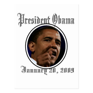 Presidente Obama Inauguration Keepsakes Tarjeta Postal