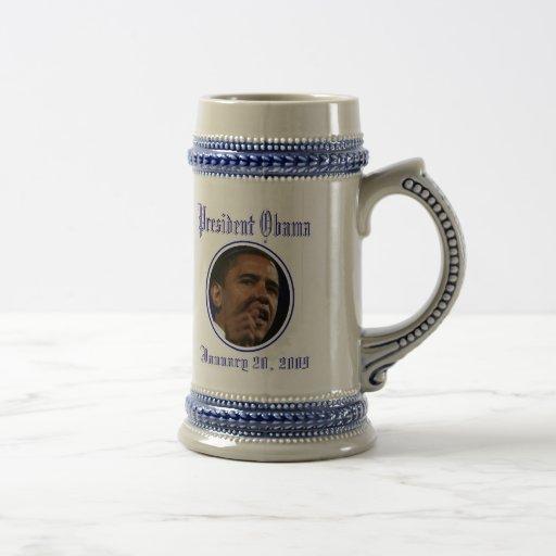 Presidente Obama Inauguration Keepsakes Taza De Café