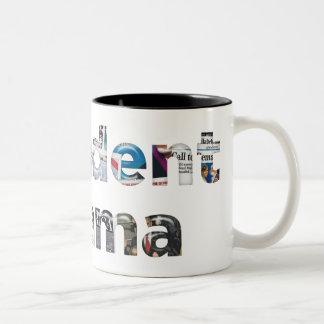 Presidente Obama Inauguration Newspaper Mug Taza