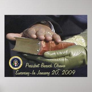 Presidente Obama Inauguration SWEARING-IN Impresiones