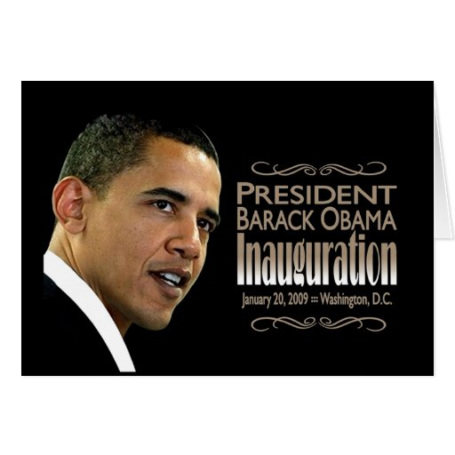 Presidente Obama Inauguration Tarjeta De Felicitación