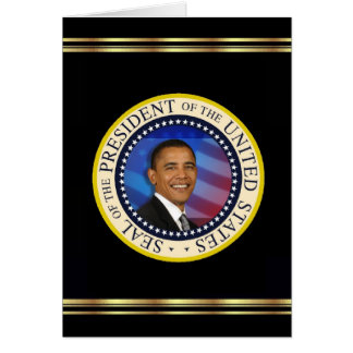 Presidente Obama Keepsake Christmas Tarjeton