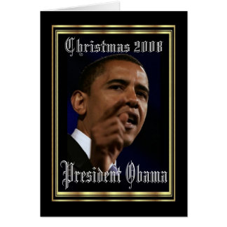 Presidente Obama Keepsake Christmas Felicitación