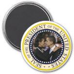 "Presidente Obama Keepsake Large 3"" Imanes De Nevera"