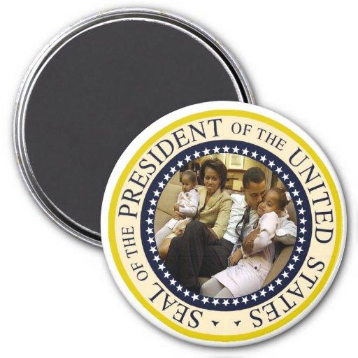 "Presidente Obama Keepsake Large 3"" Imán"