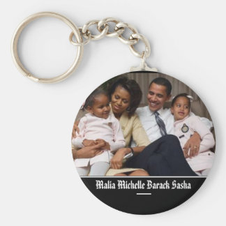Presidente Obama Keepsakes First Family Llavero Redondo Tipo Pin