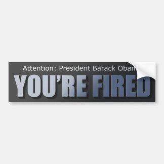 Presidente Obama: Le encienden Pegatina Para Auto
