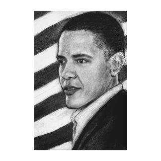 Presidente Obama Lona Envuelta Para Galerias