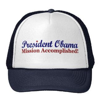 Presidente Obama Mission Accomplished Gorro
