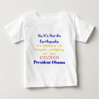 Presidente Obama Not An Earthquake Playera De Bebé