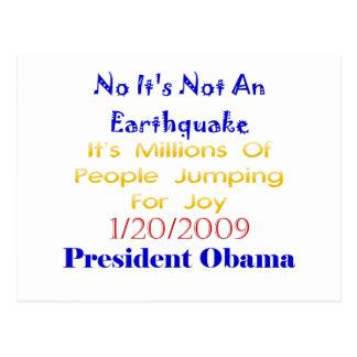 Presidente Obama Not An Earthquake Postal