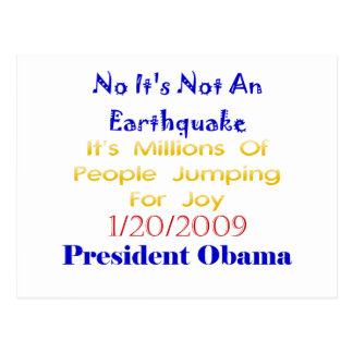 Presidente Obama Not An Earthquake Postal