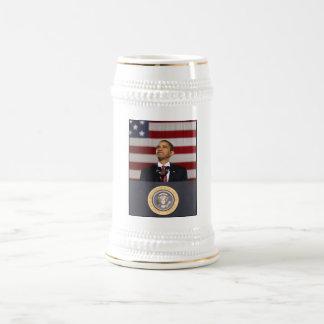 Presidente Obama Painting Jarra De Cerveza